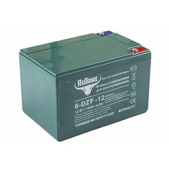 Тяговый гелевый аккумулятор RuTrike 6-DZF-12 (12V12A/H C2)