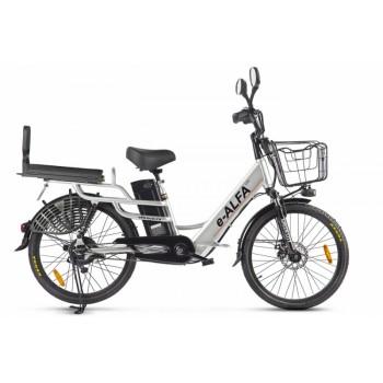 Велогибрид GREEN CITY e-ALFA LUX Серебристый