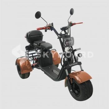 Электроскутер CityCoco SkyBoard Trike BR40-3000 PRO Коричневый