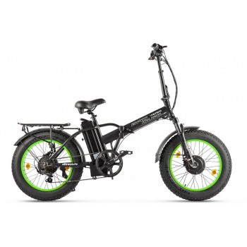 Электровелосипед VOLTECO BAD DUAL NEW Черно-салатовый