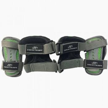 Набор защиты Tech Team Safety line 300, цвет серый (размеры S, M, L)